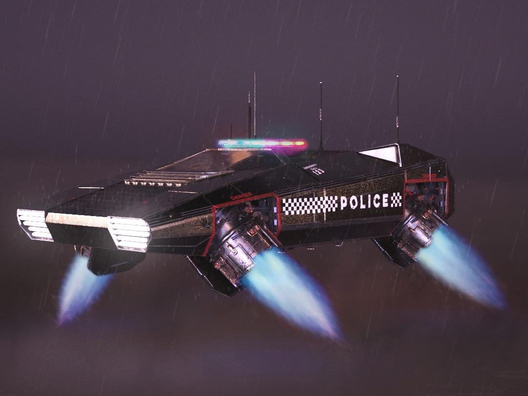 Cyberpunk Police Car