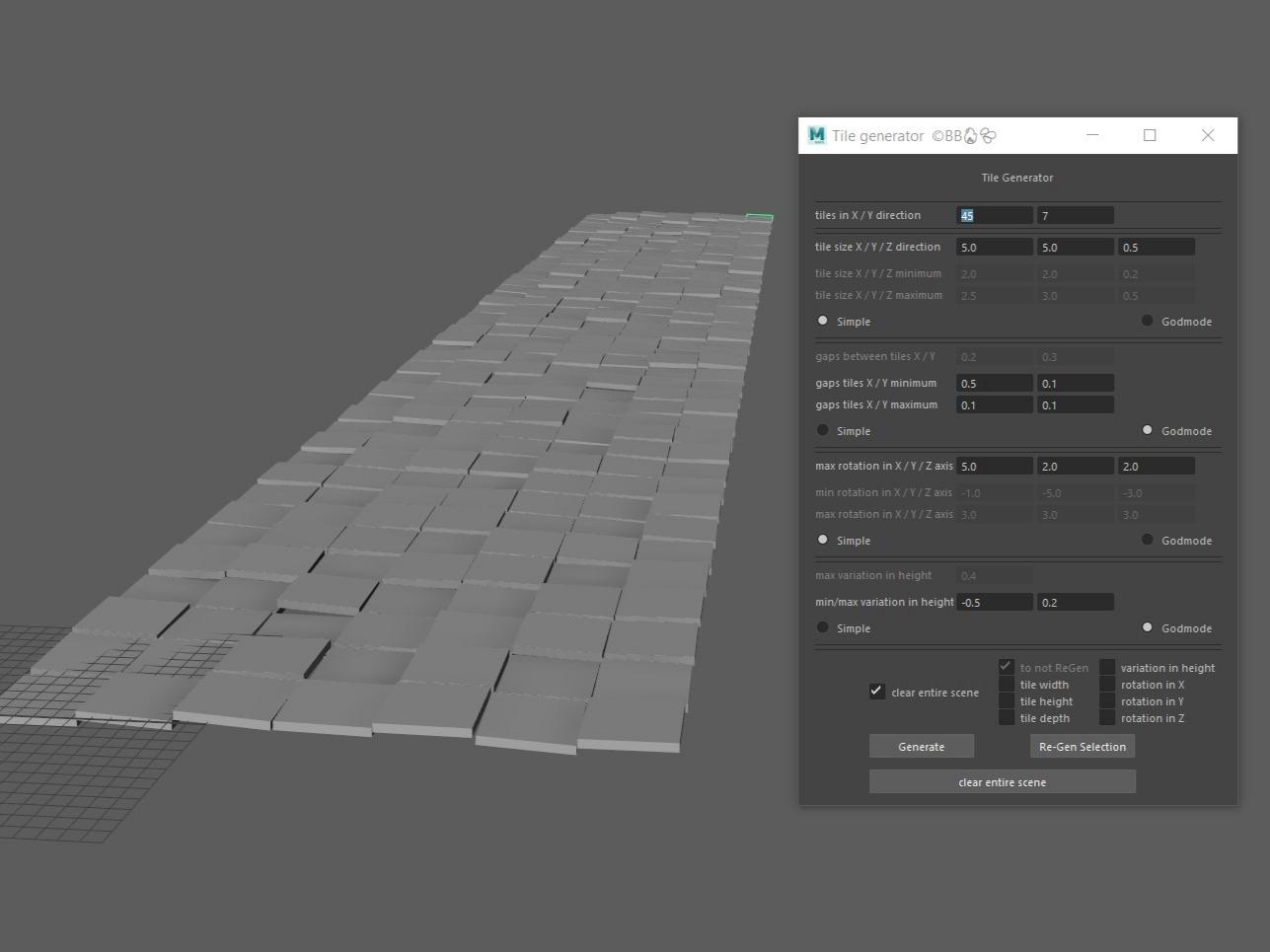 Tile Generator (Maya Script)