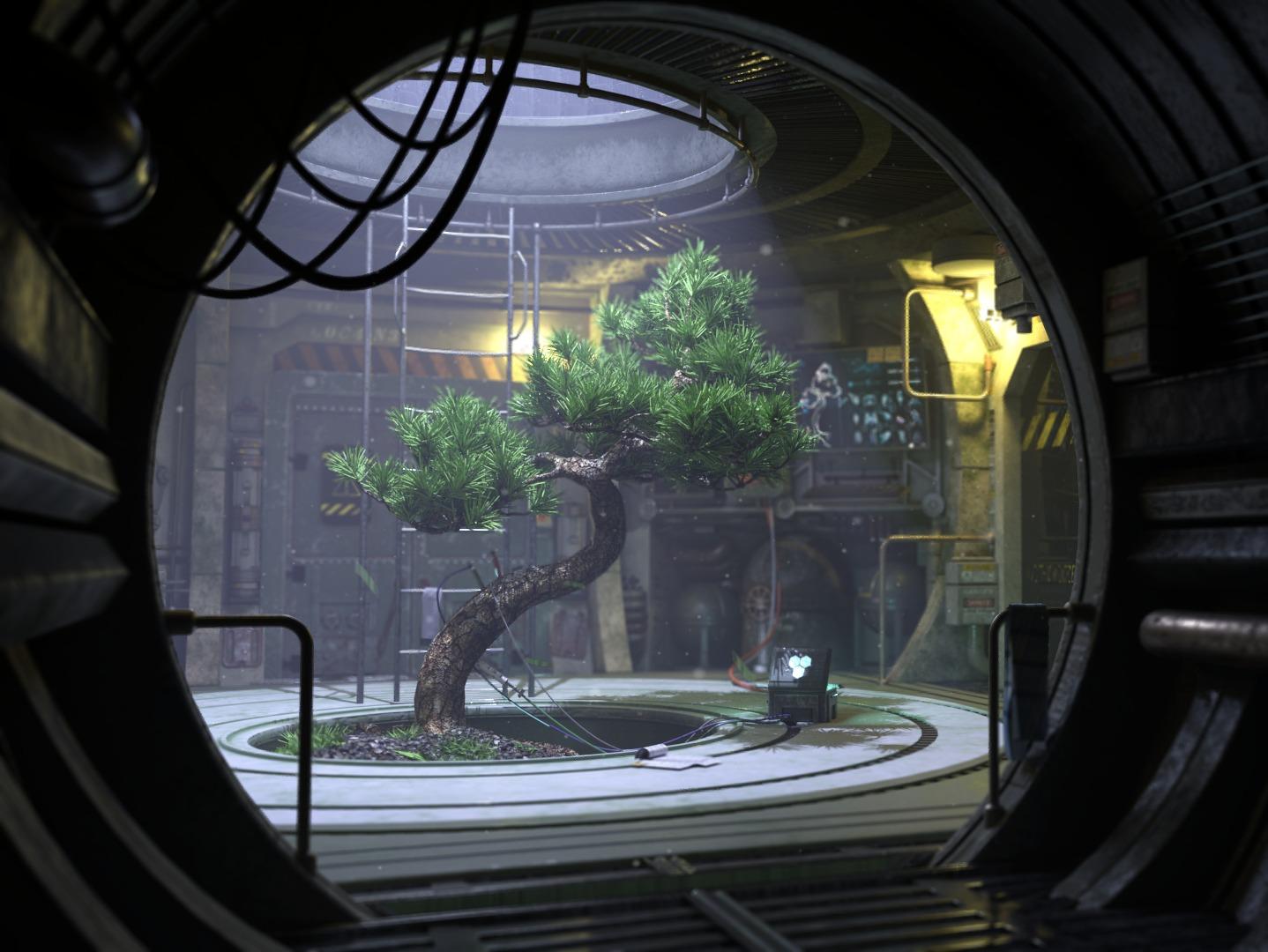 Spaceship Interior Scene